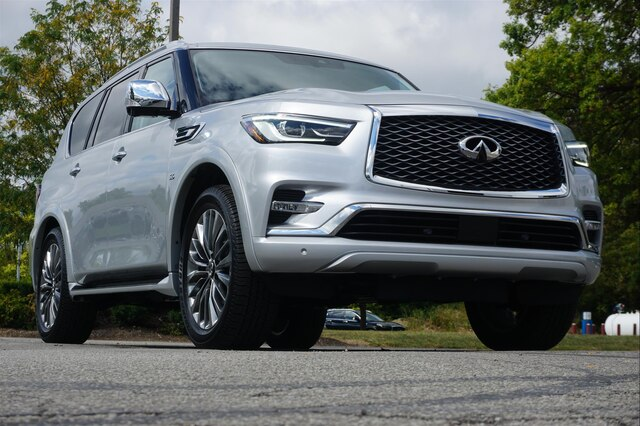 Pre-Owned 2019 INFINITI QX80 LUXE SENSORY PROASSIST THEATER 22 WHEELS