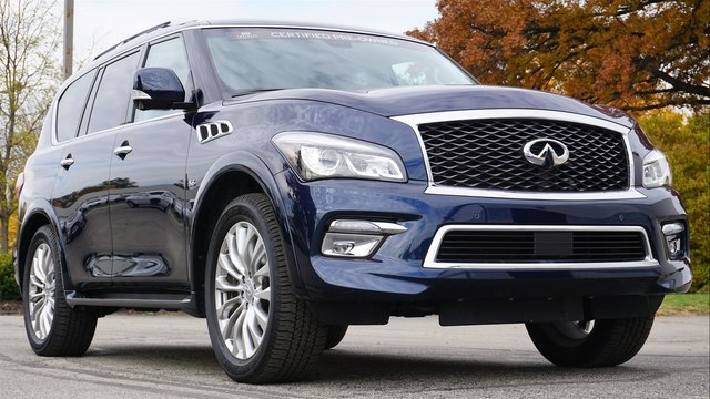 Certified Pre Owned 2017 Infiniti Qx80 Drivers Ist Theater 22 Wheels
