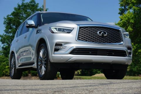Pre-Owned 2019 INFINITI QX80 LUXE SENSORY PROASSIST THEATER 22 WHEELS""